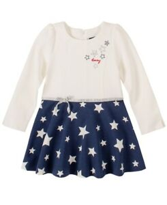 Tommy Hilfiger Girls' White & Blue A-Line Dress, White, Size 2T, $55, NwT