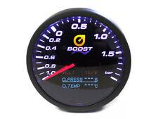 4in1 Ladedruck Anzeige 60mm Öldruck Öltemperatur Volt Gauge schwarz TT