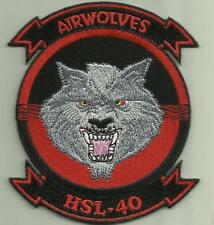HSL- 40 AIRWOLVES US.NAVY PATCH HELICOPTER ANTI SUB USA SAILOR HELO PILOT USA.
