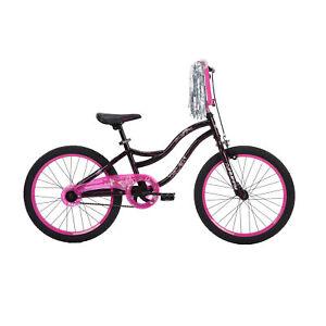 "20"" Wheels Girls BMX Bike Kids Bicycle Black Pink Outdoor Riding Cycling Single"