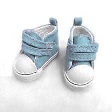 Yo-SD bjd Doll Shoes 2 Strap Denim Boots Lt Blue (for Foot 4.5cm long)