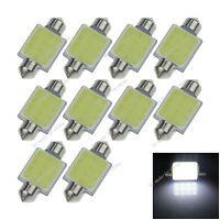 10X White 36MM 1 12 Chips COB Festoon Dome Map  LED Light Lamp Roof Bulb I131