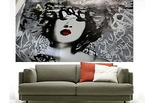 120cm japan girl  Geisha street art graffiti australia canvas painting large