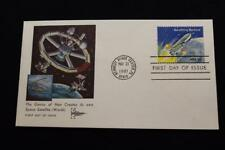 SPACE COVER 1981 1ST DAY ISSUE MAN CREATES SPACE SAT BENEFITING MANKIND (4878)