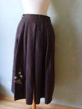 Rock Trachtenrock khaki mit Enten Edelweiss Motiv Größe 36 S süß Wiesn