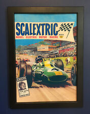 Scalextric Jim Clark 1965 Framed Poster A4 Size Shop Display Sign Advert Leaflet