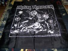 Vintage 1991 IRON MAIDEN Scarf Tapestry Flag Wall Hanging Banner Fabric Poster