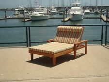 """Wide Redwood Chaise Lounge with cushion 30""""H x 36""""W x 72""""L"""