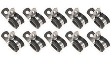 """3/8"""" Steel Fuel Line Clamps EPDM Rubber Cushion Clamp 171006 10pk 10 mm USA"""