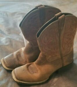 ARIAT 10004853 Brown Leather Quickdraw Distressed Western Women Boot Size 5