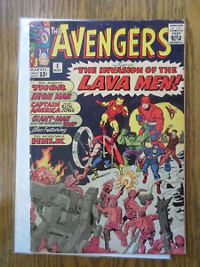 avengers 5 (marvel may 1964) silver age 1st lava men stan lee jack kirby VG
