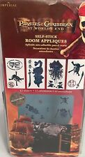 """New PIRATES OF THE CARIBBEAN 12 SELF STICK WALL APPLIQUES DECALS """"AT WORLDS END"""""""