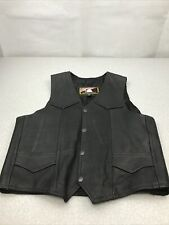 Name Of Quality Products Genuine Leather Size 4XL Vest Motorcycle Biker KG WSR