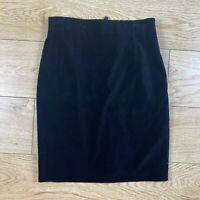 Escada by Margaretha Ley Pencil Skirt 38 Black Velvet Straight Knee Length US 8