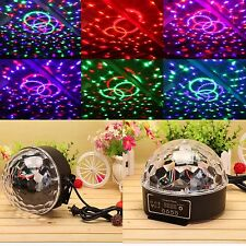 DMX512 20W RGB LED Crystal Ball Stage Light IR Remote Sound Activated Party Lamp
