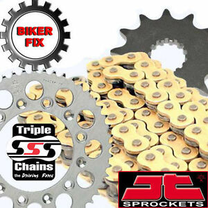 FITS Suzuki GS450 L-E,F,G,H 84-87 GOLD Kit Heavy Duty O-Ring Chain and Sprocket