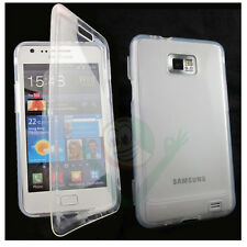 Custodia Jelly Touch cover trasparente pr Samsung Galaxy S2 i9100 S2 Plus flip