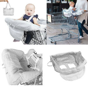 2-in-1 Supermarket Shopping Cart High Chair Cover Child Compact Portable