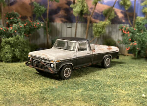 1976 Ford F-100 Rusty Weathered 1/64 Custom Diecast Barn Find Junkyard Truck