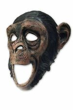 Moving Mouth Deluxe Chimpanzees Latex Mask Monkey for Perfect