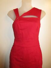 Guess By Marciano XS Dress Bright Cherry Red Bodycon Stretch Cocktail Party Sexy