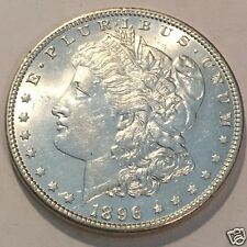 1896  $1  MORGAN SILVER DOLLAR !  7TF BU BRILLIANT UNCIRCULATED  #3306