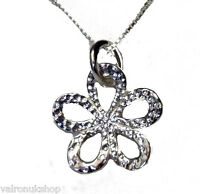 "925 STERLING SILVER HAMMERED FLOWER PENDANT NECKLACE 16"" 18"" 20"" CHAIN (1907)"