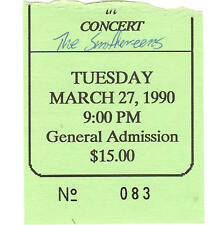 Smithereens Concert Ticket Stub Augusta Ga 3/27/90 The Post Office Blood & Roses