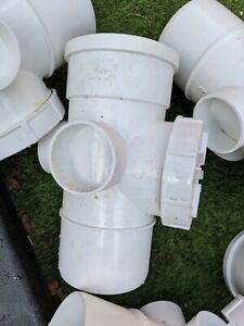 10 X Polypipe SA43 - Ring Seal Soil 110mm Access Pipe Single Socket White sa43