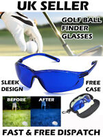 Golf Ball Finder Glasses Locator Retriever Blue Hawk Sleek Design Carry Case UK