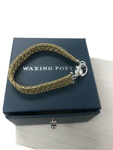 WAXING POETIC Artesima Brass and Sterling Silver Bracelet New In Box