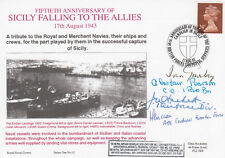 RNCH12b 50th Anniv Sicily Falling to the Allies Signed 4 Hackett,Pearson,Gourlay