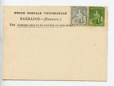 Barbados postal stationery formular postcard unused franked 1d & ½d (U928)