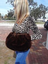 40s Vintage Mouton Real Fur Muff Purse Glam Girl Pin Up Girl Epic Style