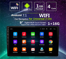"""9"""" Android 7.1 2 DIN Car Stereo Radio MP5 Player GPS Wifi GPS BT Quad-Core DVD"""