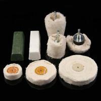 8 Pezzi Lucidatura Mocio & Ruota Trapano Set Testa per Metallo Alluminio Plastic