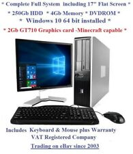 "Windows 10 Cheap Fast HP Core Full System 17"" Monitor Desktop Computer PC Gaming"