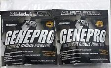 2 Pack- Musclegen Research Genepro Medical Grade Protein 30 Servings Each. New!