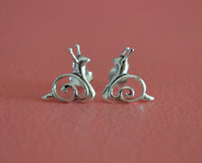 925 Sterling Silver Snail Stud Post Earrings - Cut Out Snail Stud Earrings