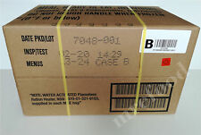 CASE B FULL US Military Food Army MRE Ration Emergency Army 12 Packs Insp 2019