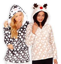 Sudadera con capucha nuevo para mujer señoras de la Navidad Pingüino Reno Navidad Polar Jumper Reino Unido 8-22