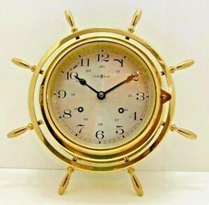 Howard Miller Ships Wall Clock 612-445  Weather & Maritime Brass - Rare Antique