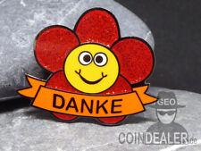 "Pin ""DANKE"" als Dankeschön Geschenkidee Geopin - Rot Glitzer"