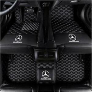 For Mercedes-Benz 1998-2021 Luxury Waterproof Front & Rear Liner Car Floor Mats