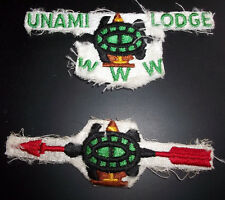 UNAMI LODGE 1 ONE USED CUT UP PATCHES ORDER ARROW SECTION BOY SCOUT OA WWW