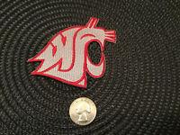 """WSU WAZZU Washington State University Cougars embroidered iron-on patch 3"""" X 3"""""""