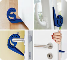 4er set Multi-Stop WENKO,Türstopper, Fensterstopper blau