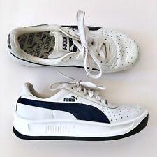 Vintage Puma White Platform Sneakers Men Size 5.5 Women 7