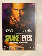 Snake Eyes (Dvd) Region 4 Nicolas Cage Gary Sinise Brian De Palma New & Sealed!