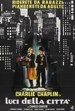 City Lights Movie Poster Charlie Chaplin Rare Vintage 2